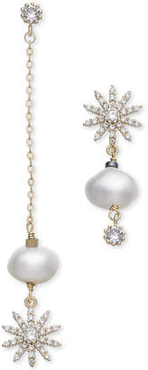 Paul & Pitu Naturally Gold-Tone Crystal & Imitation Pearl Mismatch Earrings