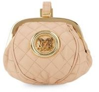 Love Moschino Quilted Faux Leather Pouch
