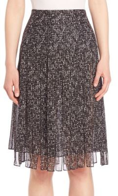 Michael Kors Collection Frilled Silk Skirt