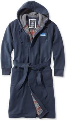 L.L. Bean L.L.Bean Rugby Robe, Flannel-Lined