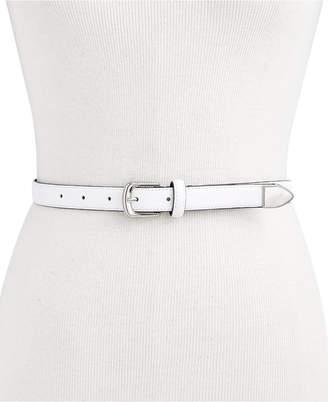 Calvin Klein Skinny Metal Tip Leather Belt