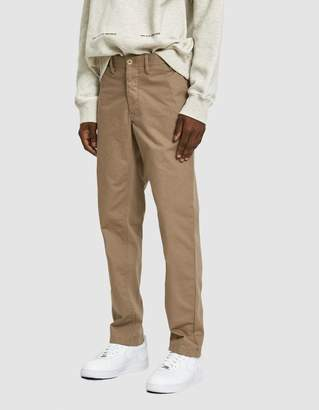 Norse Projects Aros Heavy Twill Chino Pant in Utility Khaki