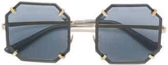 Dolce & Gabbana Eyewear hexagonal metal sunglasses