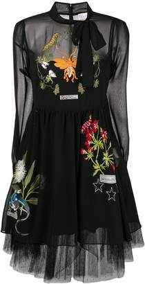 RED Valentino embroidered midi dress