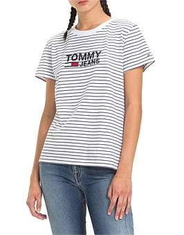 Tommy Hilfiger Striped Chest Graphic Tee