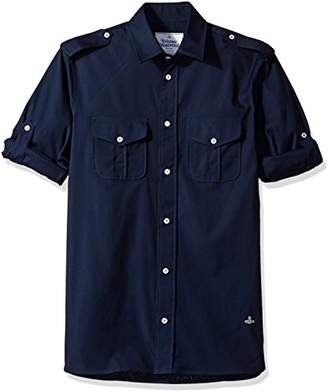 Vivienne Westwood Men's Military Shirt Navy