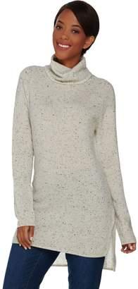Isaac Mizrahi Live! 2-Ply Cashmere Turtleneck Sweater Tunic