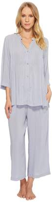 Donna Karan Viscose Slub Woven Capris Pajama Women's Pajama Sets
