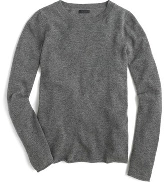 Women's J.crew Long Sleeve Italian Cashmere Sweater $198 thestylecure.com