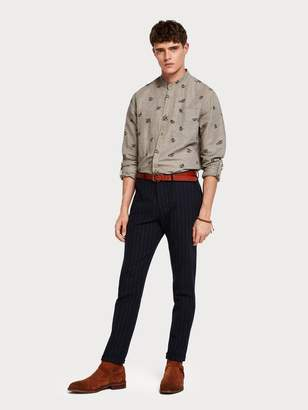 Scotch\U0020\U0026\U0020soda Stuart - Raffia Stripe Trousers Regular slim fit