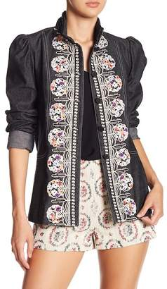 Anna Sui Frolick In The Forest Denim Jacket