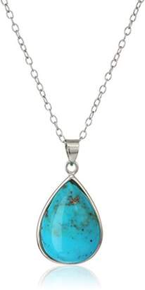 Sterling Silver Pearshape Pendant Necklace