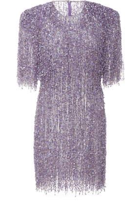 Naeem Khan Sequin Embellished Fringe Dress Size: 4