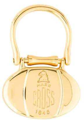 Mark Cross Logo Engraved Keychain