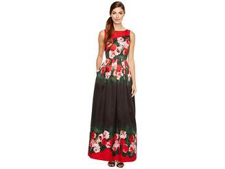 Tahari ASL Rose Printed Ballgown Women's Dress