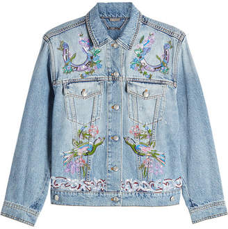 Alexander McQueen Embroidered Denim Jacket