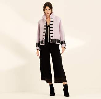 Amanda Wakeley Lilac Military Style Wool Biker Jacket