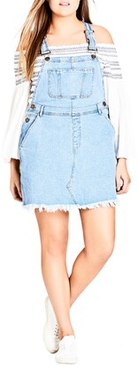 City Chic Denim Overall Dress
