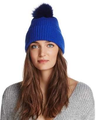Sunnylife Raffaello Bettini Fox Fur & Cashmere Ribbed Pom-Pom Beanie - 100% Exclusive