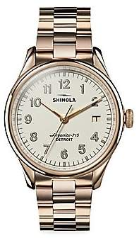 Shinola Vinton Stainless Steel Bracelet Watch