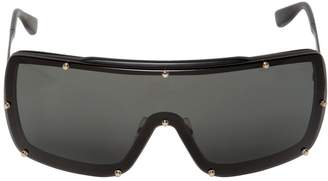 Dita Raygun Matte Black Mask Sunglasses