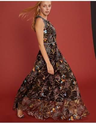 Cynthia Rowley Embroidered Mesh Dress