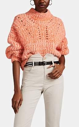 Isabel Marant Women's Jarren Alpaca-Blend Oversized Crop Sweater - Orange