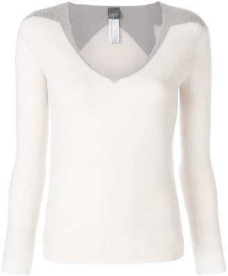 Lorena Antoniazzi star embellished fitted jumper