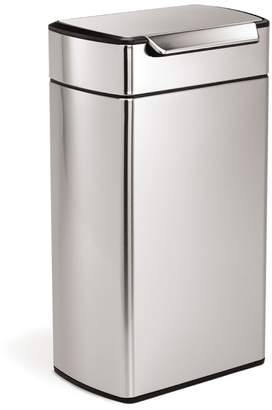 Williams-Sonoma simplehuman Rectangular Touch-Bar Can, Brushed Stainless-Steel
