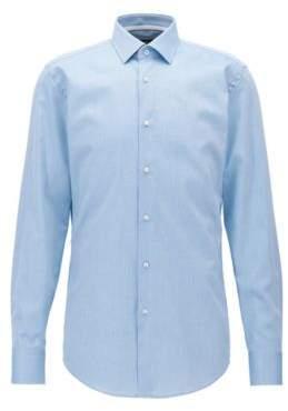 BOSS Hugo Dot-Print Cotton Dress Shirt, Slim Fit Jesse 18 Turquoise