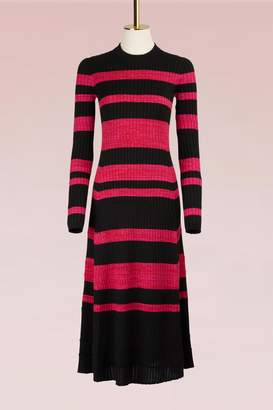Proenza Schouler Wool Dress with Fine Rib