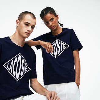 Lacoste Unisex LIVE Crew Neck Oversized Logo Jersey T-shirt