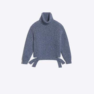 Balenciaga Large turtleneck heavy sweater in a fisherman ribs stitch
