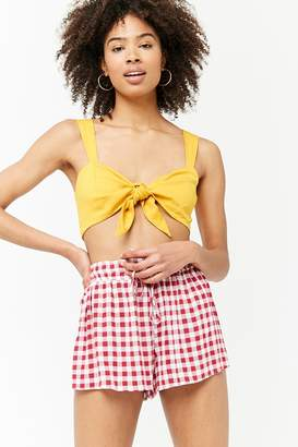 Forever 21 Gingham Drawstring Shorts
