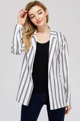 lunik Black&White Stripe Blazer