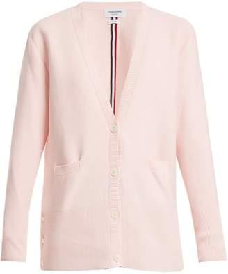 Thom Browne Stripe-detail cotton cardigan