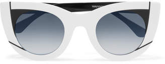 Thierry Lasry Wavvvy 000 Cat-eye Acetate Sunglasses - White