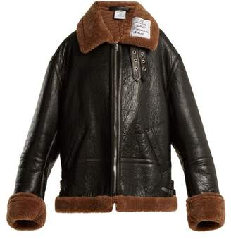 Vetements Oversized Shearling Jacket - Womens - Brown