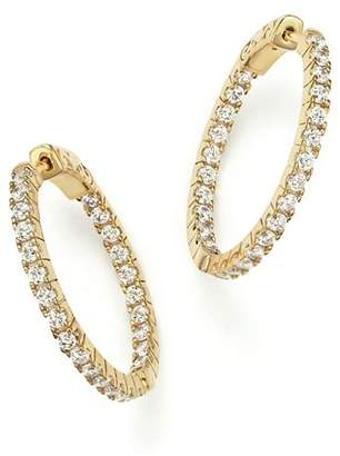 Bloomingdale's Diamond Inside Out Hoop Earrings in 14K Yellow Gold, 1.50 ct. t.w. - 100% Exclusive