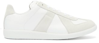 Maison Margiela Replica Suede Panel Low Top Trainers - Mens - White