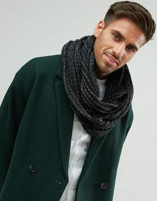 New Look Knitted Snood In Black