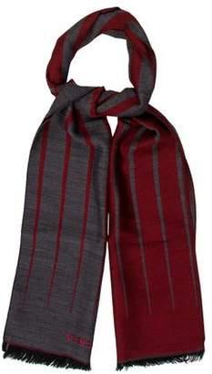 Versace Wool Striped Scarf