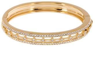 Nadri Crystal Pave Cutout Hinged Bangle Bracelet