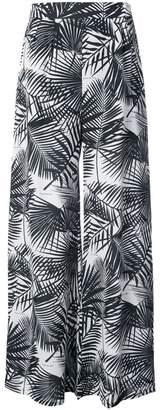Fleur Du Mal palm print high trousers