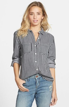 Junior Women's Bp. Double Layer Gingham Shirt $38 thestylecure.com