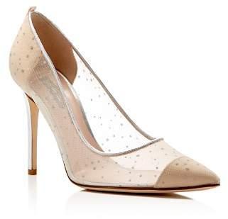 Sarah Jessica Parker Glass Glitter Dot Pointed Toe High-Heel Pumps