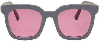 Gentle Monster Grey Finn Sunglasses $215 thestylecure.com