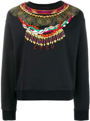 Etro necklace print sweatshirt