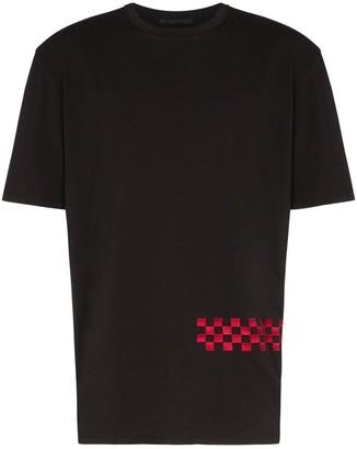 Haider Ackermann Awuna checkerboard-stripe T-shirt