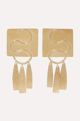 Annie Costello Brown Clea Gold-tone Earrings - one size